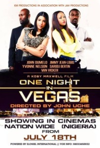 One night in vegas Jimmy Jean Louis, Yvonne Nelson, Sarodj Bertin, Michael Blackson, John Dumelo
